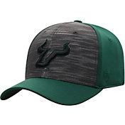Top of the World Men's South Florida Bulls Grey/Green Pepper 1Fit Flex Hat
