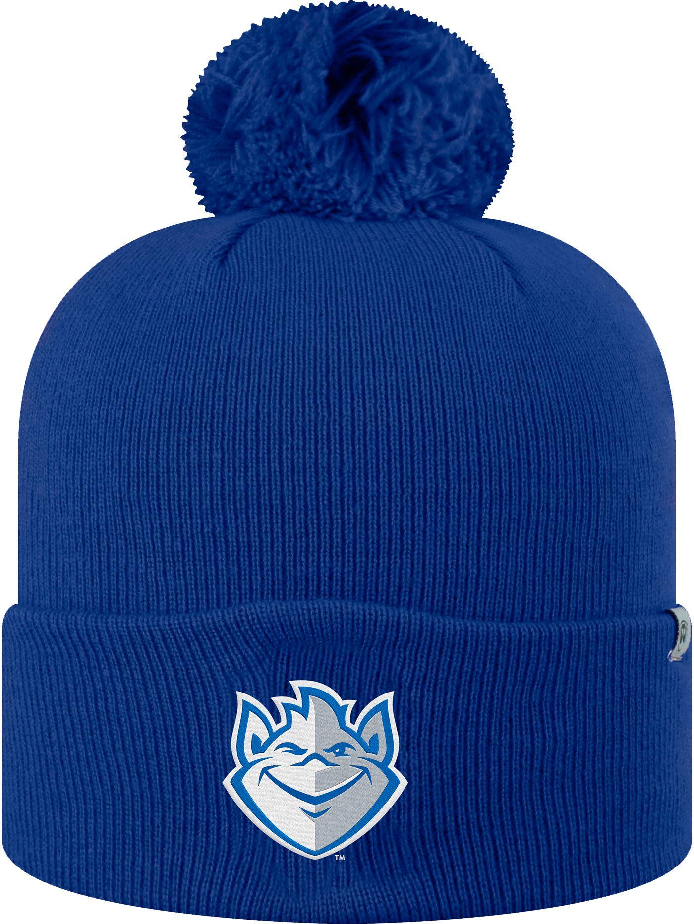 Top of the World Men's Saint Louis Billikens Blue Pom Knit Beanie