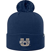 Top of the World Men's Utah State Aggies Blue Pom Knit Beanie
