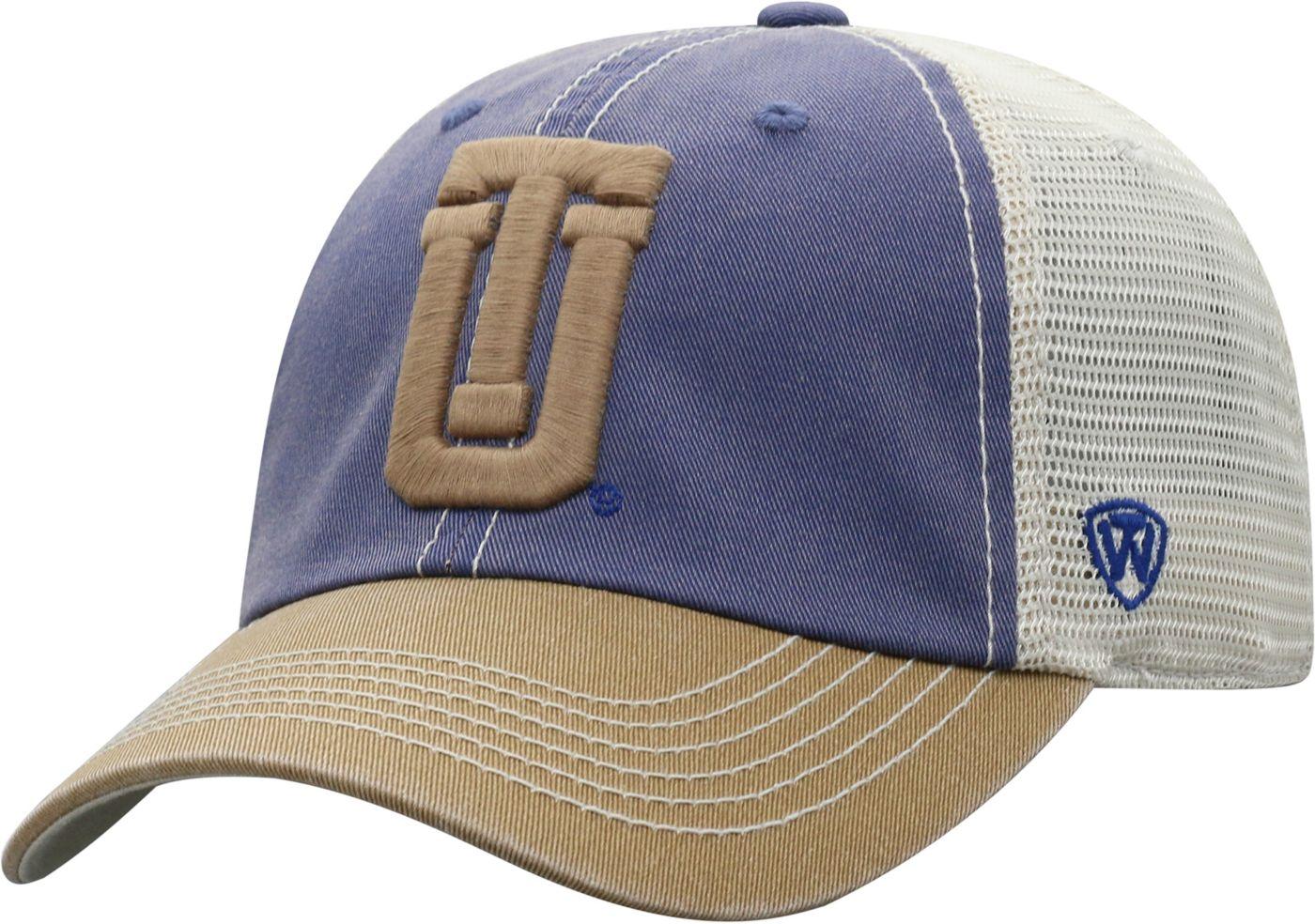 Top of the World Men's Tulsa Golden Hurricane Blue/White Off Road Adjustable Hat