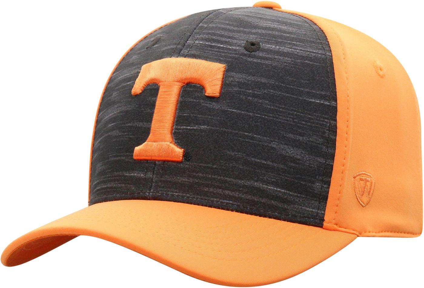 Top of the World Men's Tennessee Volunteers Grey/Tennessee Orange Pepper 1Fit Flex Hat