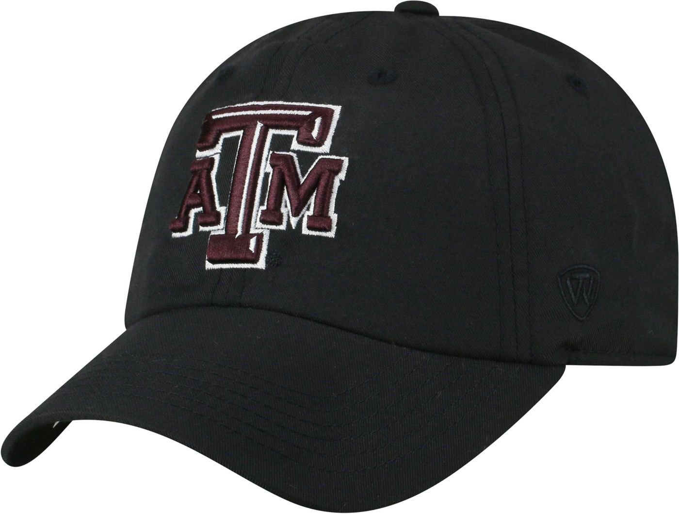 Top of the World Men's Texas A&M Aggies Staple Adjustable Black Hat