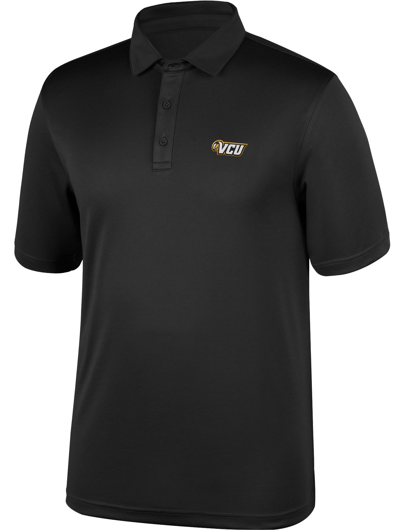 Top of the World Men's VCU Rams Black Polo