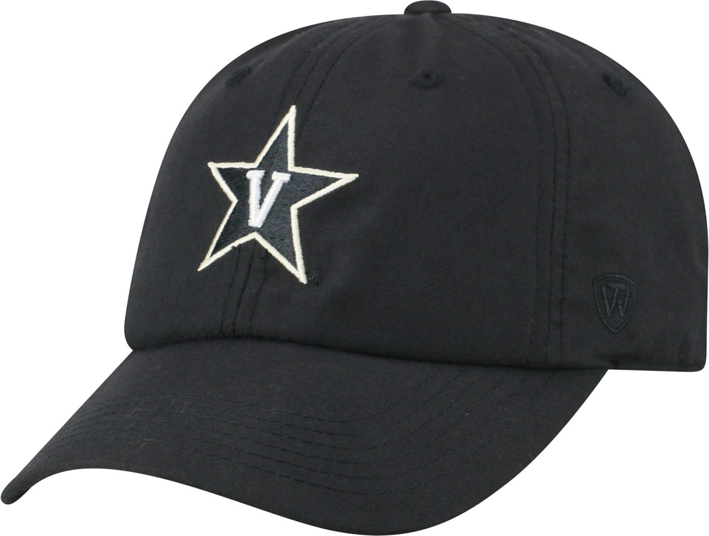 Top of the World Men's Vanderbilt Commodores Staple Adjustable Black Hat