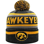 Top of the World Men's Iowa Hawkeyes Buddy Cuffed Pom Knit Black Beanie