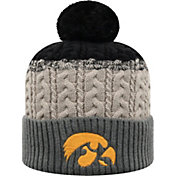 Top of the World Youth Iowa Hawkeyes Disperse Beanie and Gloves Black Set