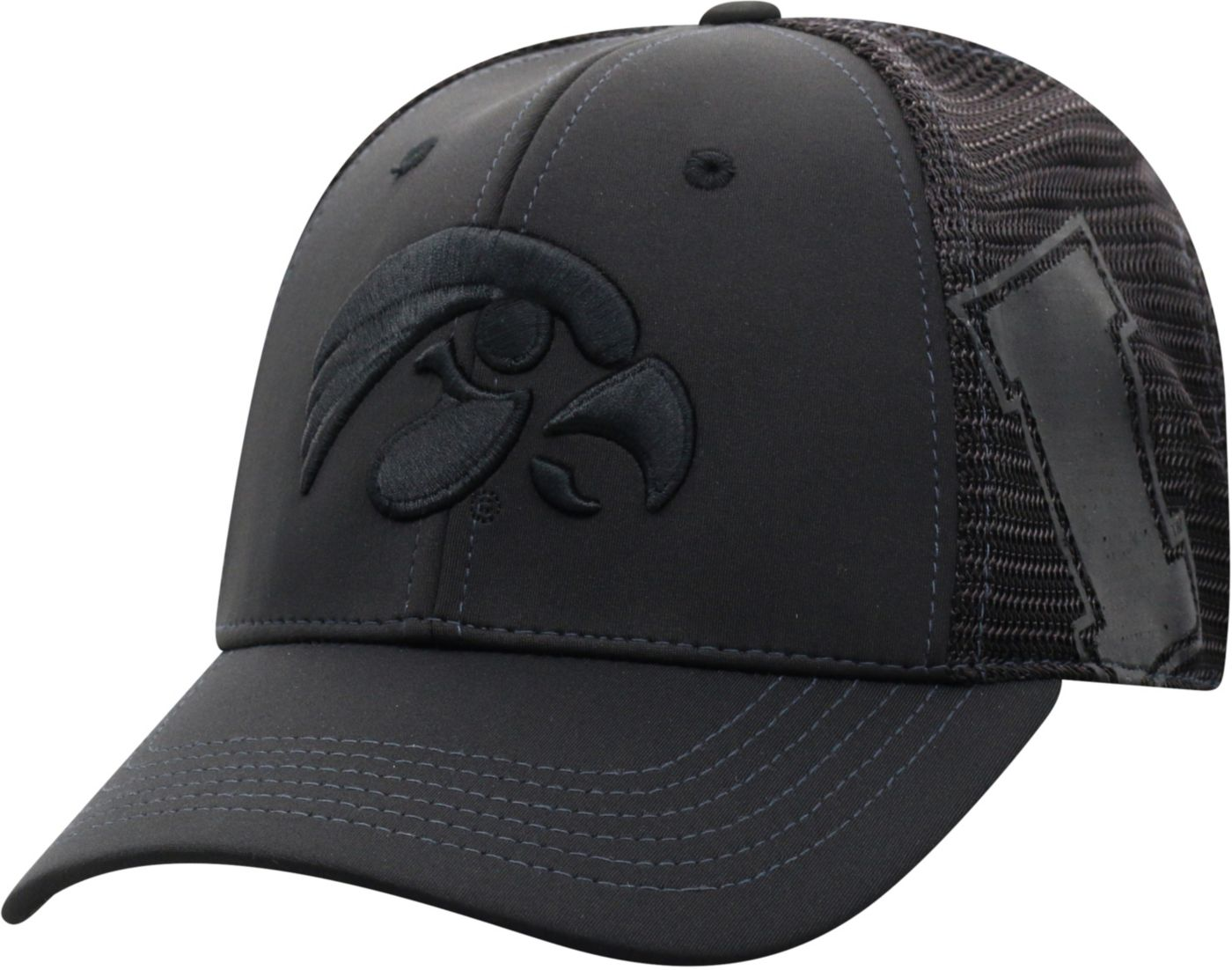 Top of the World Men's Iowa Hawkeyes Dayblaster 1Fit Flex Black Hat