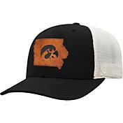 Top of the World Men's Iowa Hawkeyes Black/Grey Precise Trucker Adjustable Hat