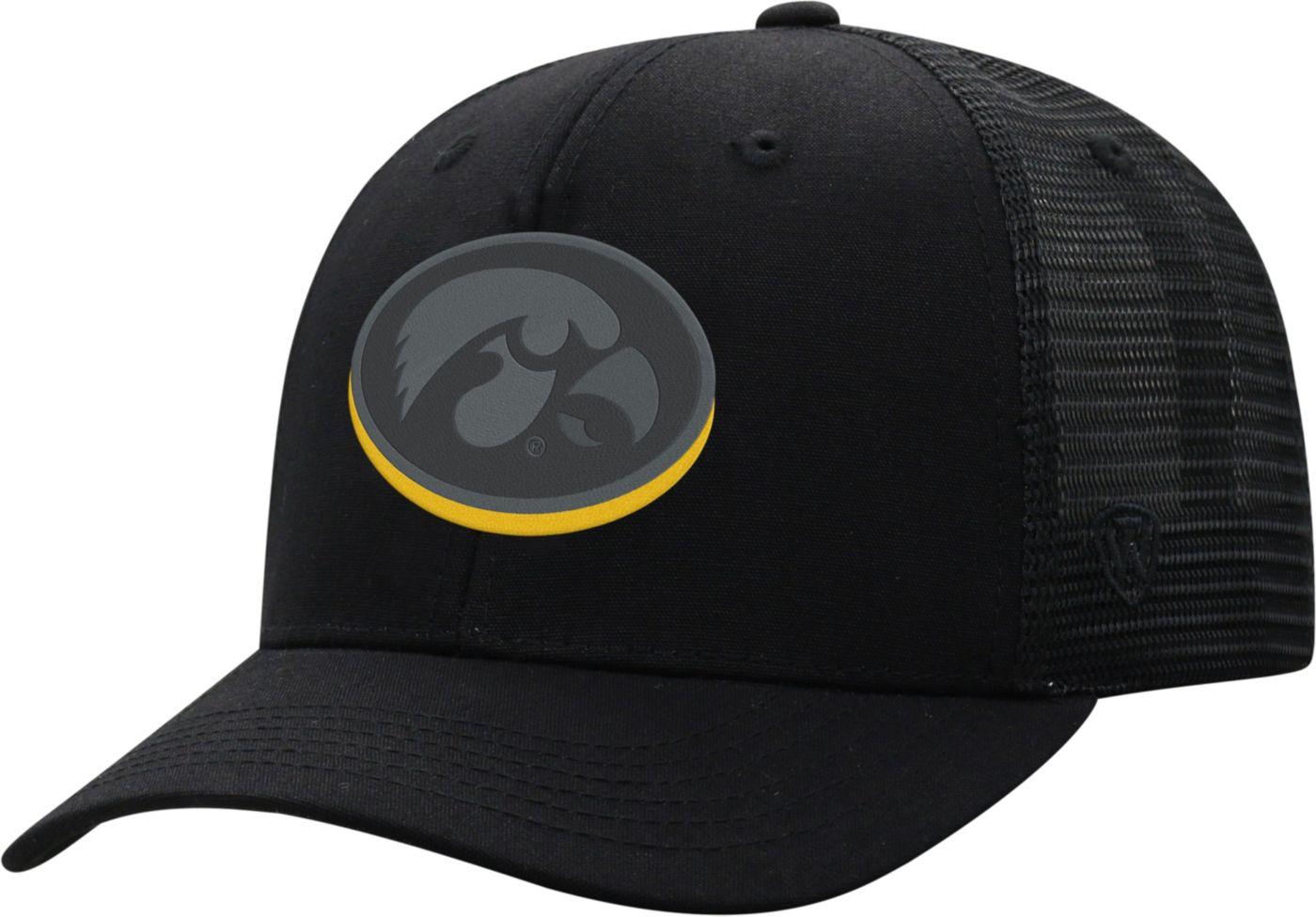 Top of the World Men's Iowa Hawkeyes ZigZag Trucker Adjustable Black Hat