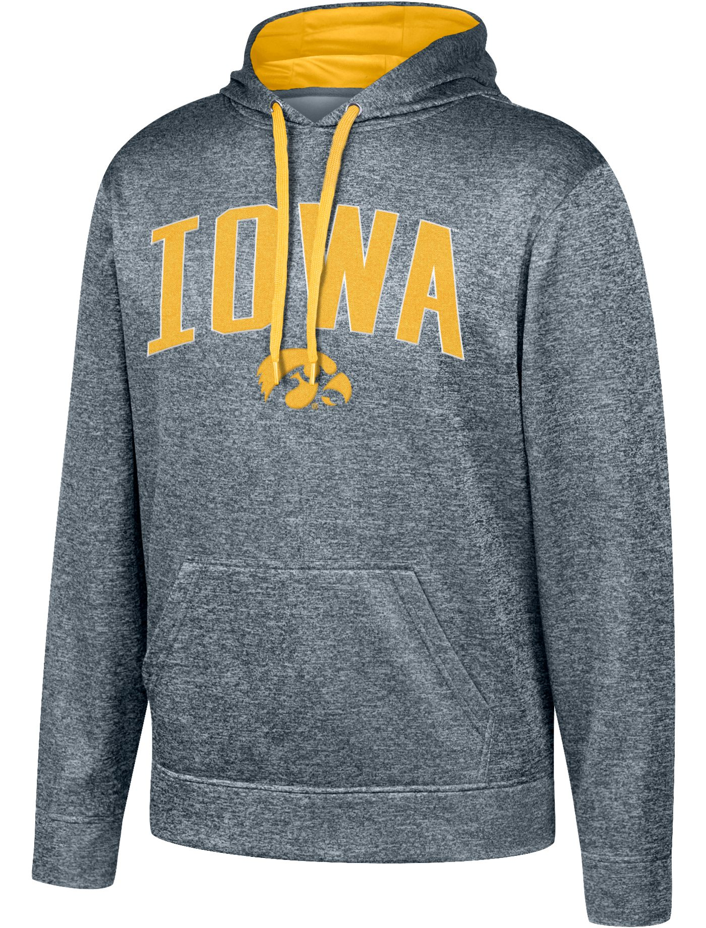 Top of the World Men's Iowa Hawkeyes Grey Foundation Poly Hoodie