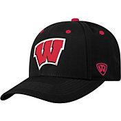 Top of the World Men's Wisconsin Badgers Triple Threat Adjustable Black Hat