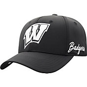 Top of the World Men's Wisconsin Badgers Phenom 1Fit Flex Black Hat