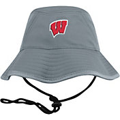 Top of the World Men's Wisconsin Badgers Grey Bucket Hat