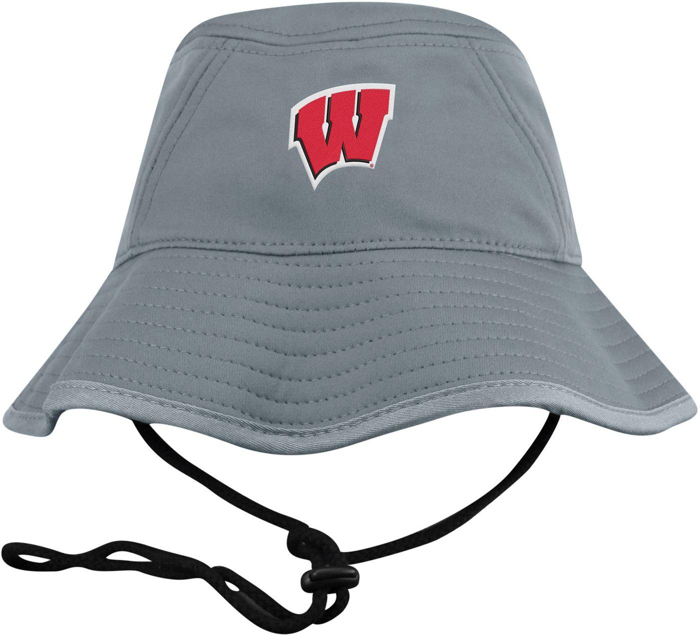 Top of the World Men's Wisconsin Badgers Grey Bucket Hat