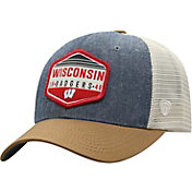Top of the World Men's Wisconsin Badgers Grey/Brown/White Wild Adjustable Hat