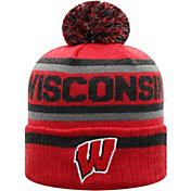 Top of the World Men's Wisconsin Badgers Red Buddy Cuffed Pom Knit Beanie