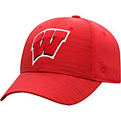 Top of the World Men's Wisconsin Badgers Red Intrude 1Fit Flex Hat