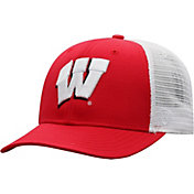 Top of the World Men's Wisconsin Badgers Red/White Trucker Adjustable Hat