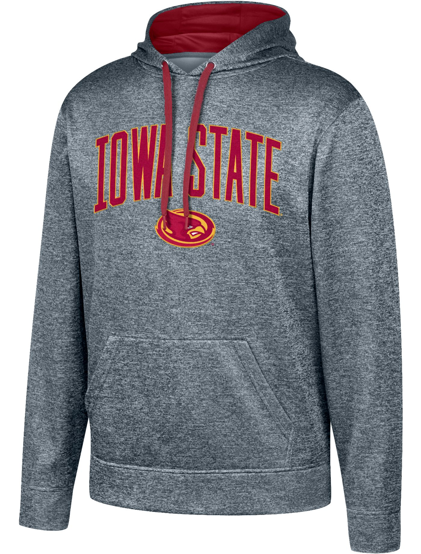 Top of the World Men's Iowa State Cyclones Grey Foundation Poly Hoodie