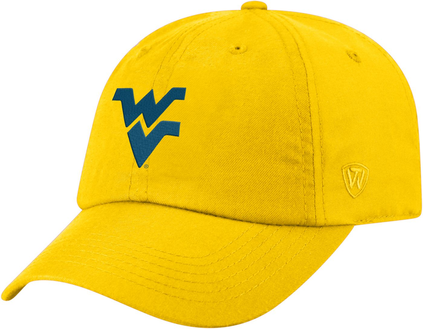 Top of the World Men's West Virginia Mountaineers Gold Staple Adjustable Hat