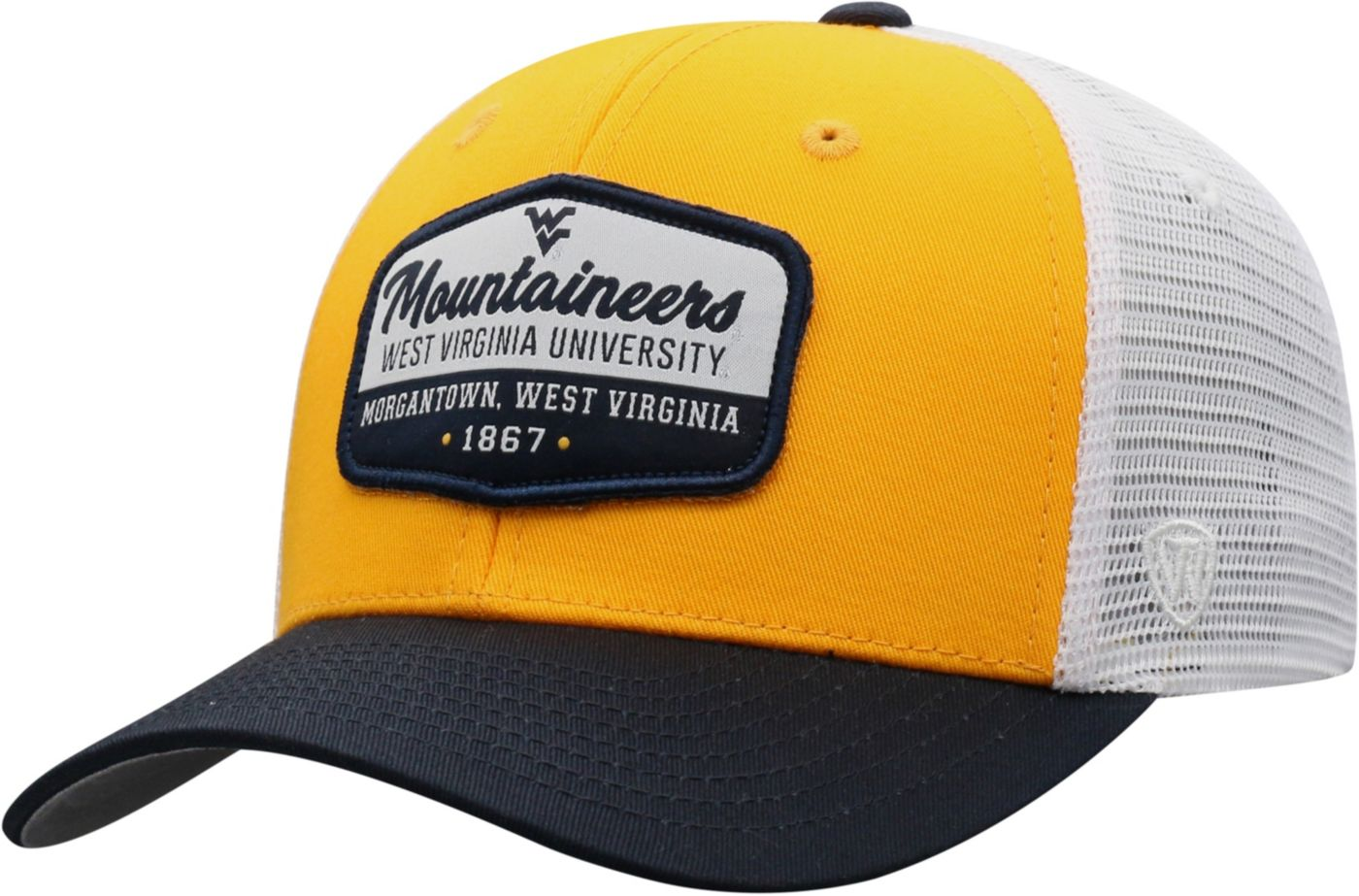 Top of the World Men's West Virginia Mountaineers Gold/Blue/White Verge Adjustable Hat