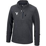 Spyder Men's West Virginia Mountaineers Grey Transport Quarter-Zip Fleece Pullover