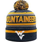 Top of the World Men's West Virginia Mountaineers Blue Buddy Cuffed Pom Knit Beanie