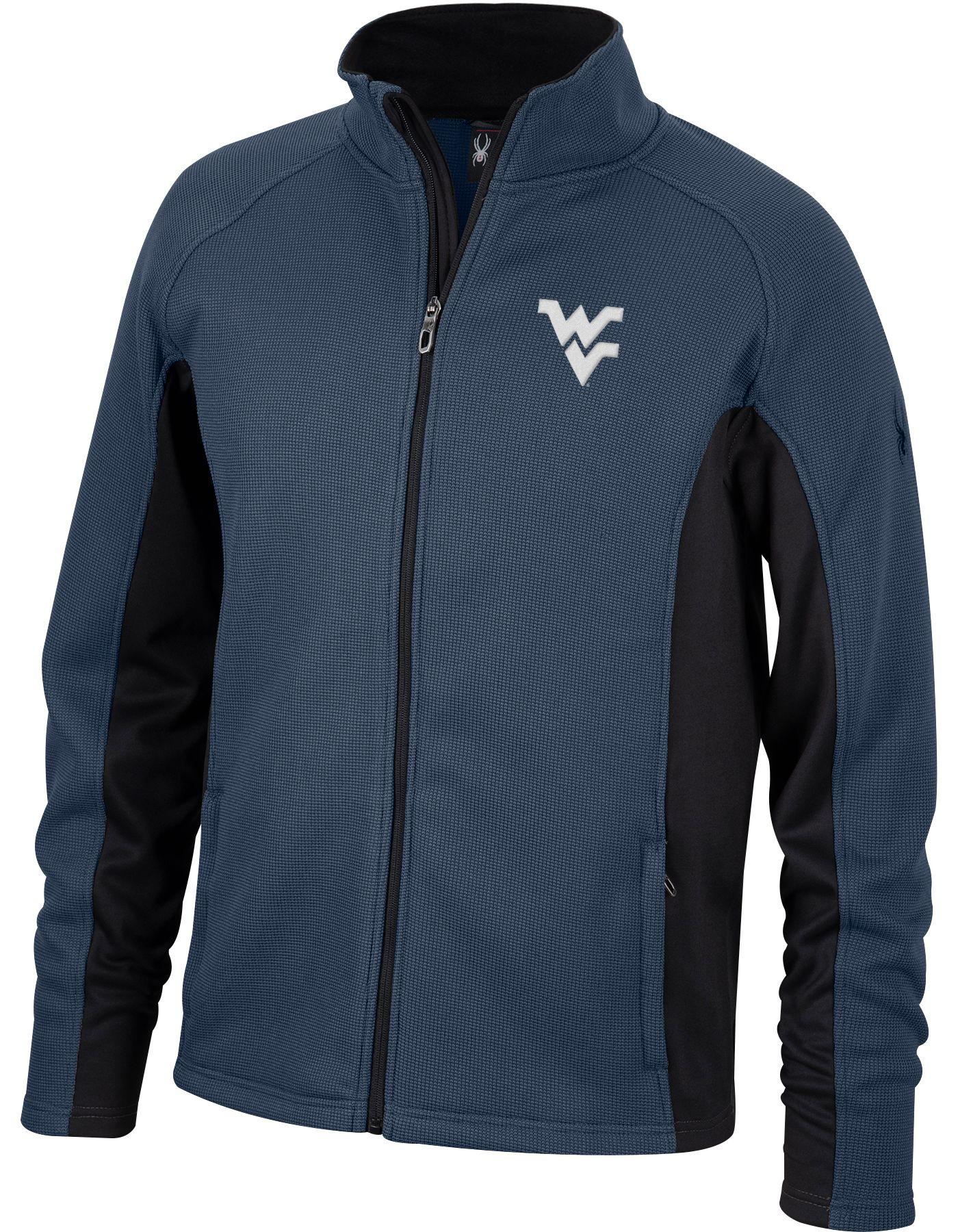 Spyder Men's West Virginia Mountaineers Blue Constant Full-Zip Fleece Jacket