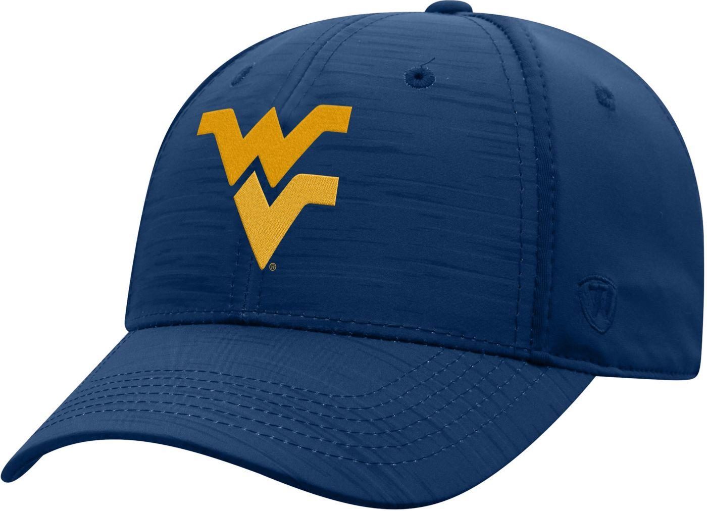 Top of the World Men's West Virginia Mountaineers Blue Intrude 1Fit Flex Hat