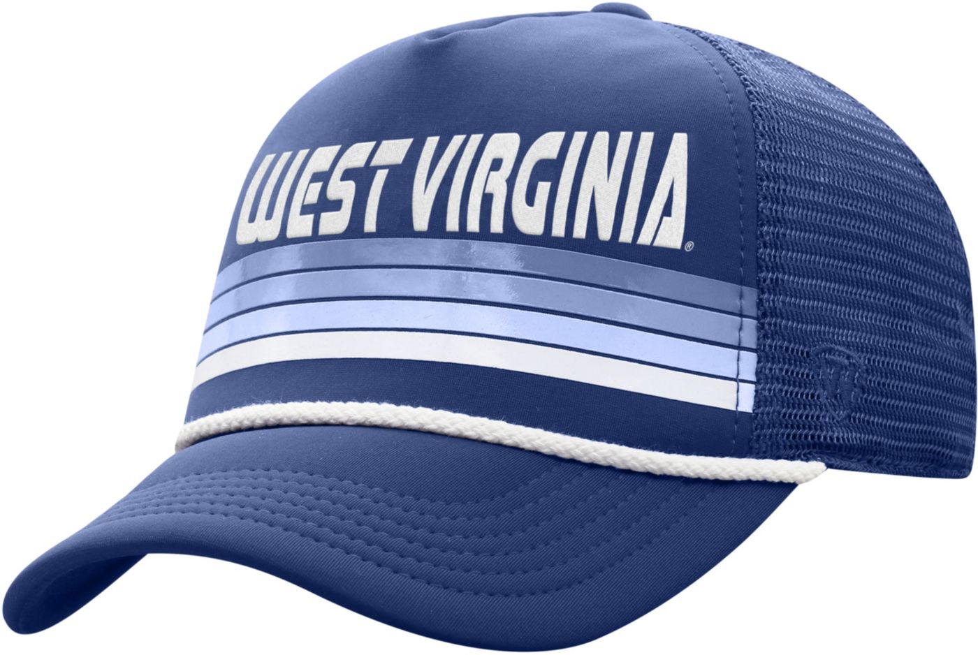 Top of the World Men's West Virginia Mountaineers Blue Wipeout Adjustable Snapback Hat