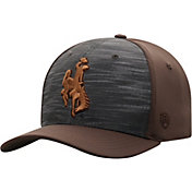 Top of the World Men's Wyoming Cowboys Grey/Brown Pepper 1Fit Flex Hat
