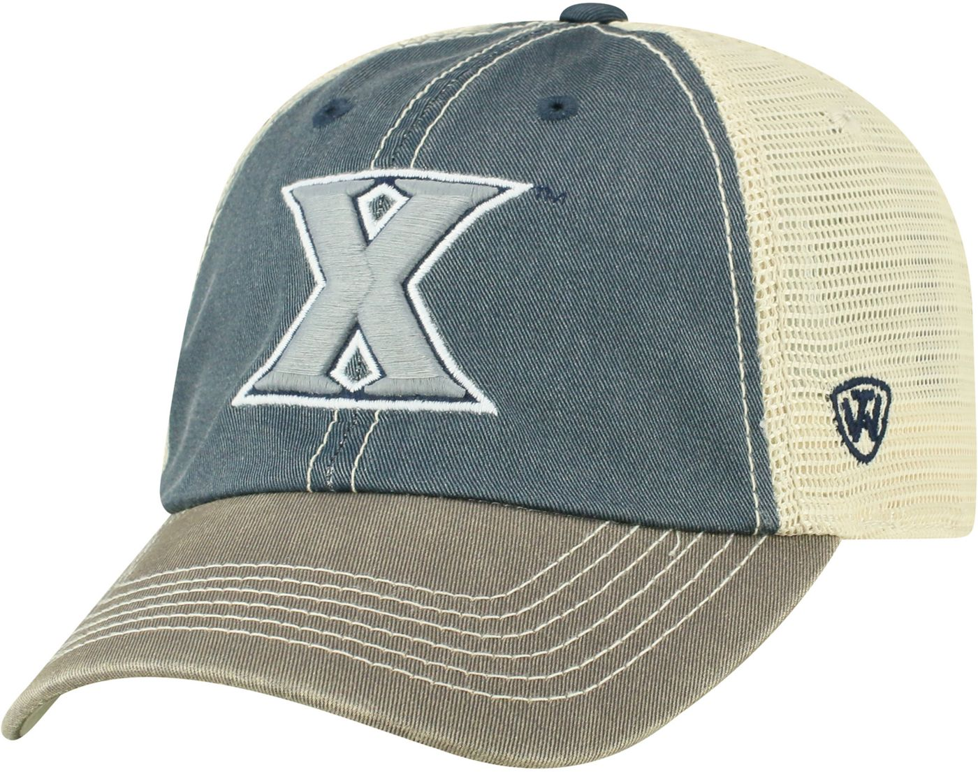 Top of the World Men's Xavier Musketeers Blue/White Off Road Adjustable Hat