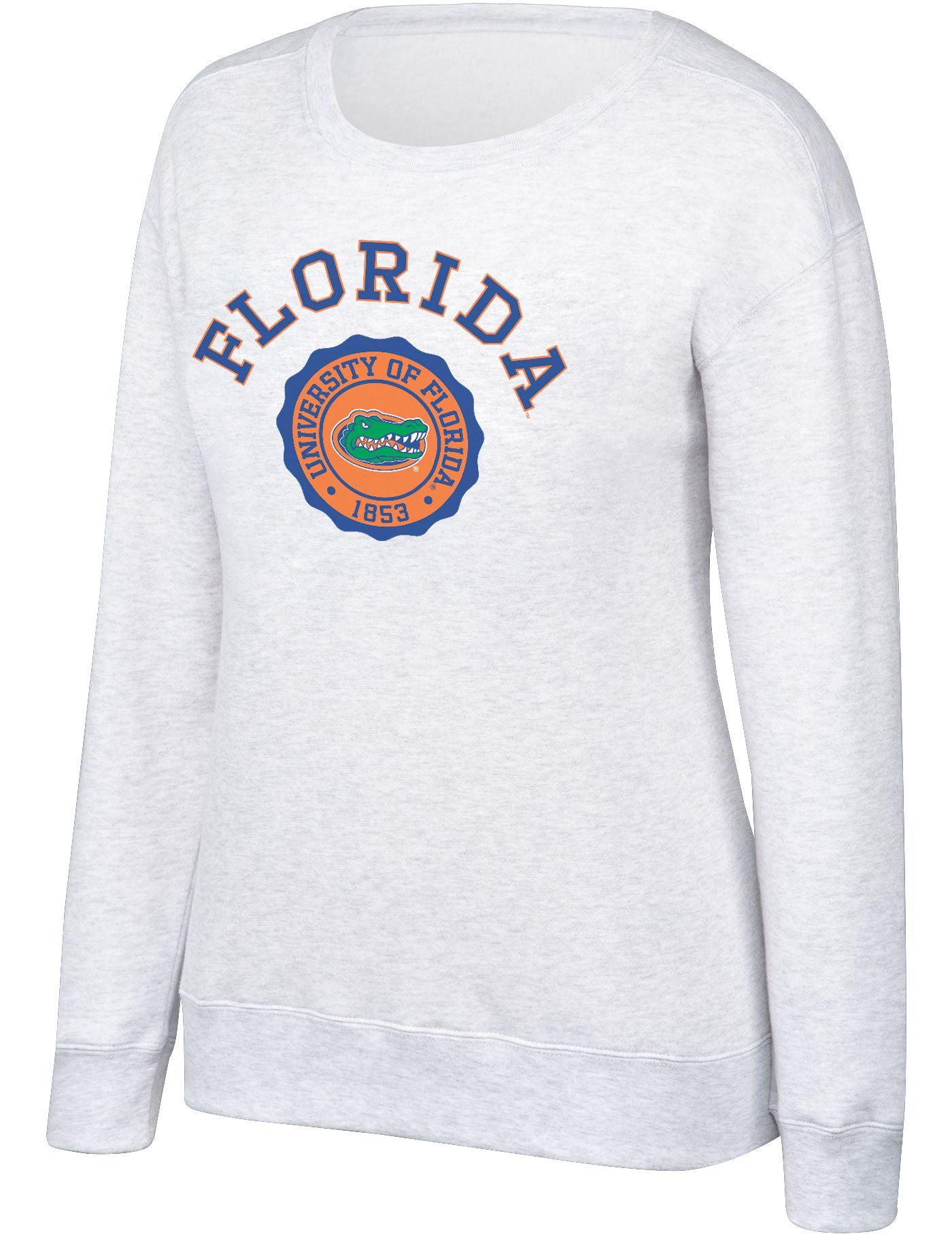 Top of the World Women's Florida Gators Grey Essential Crew Neck Sweatshirt