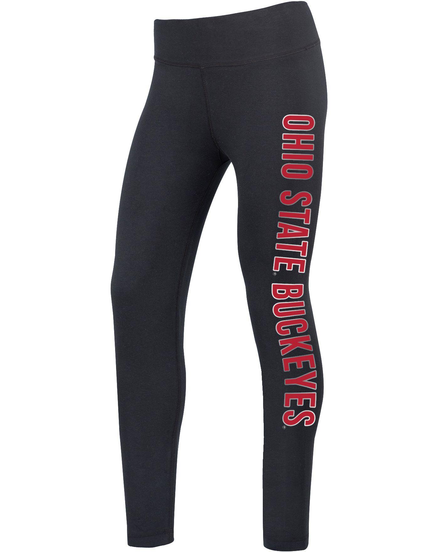 Scarlet & Gray Women's Ohio State Buckeyes Rush Black Leggings