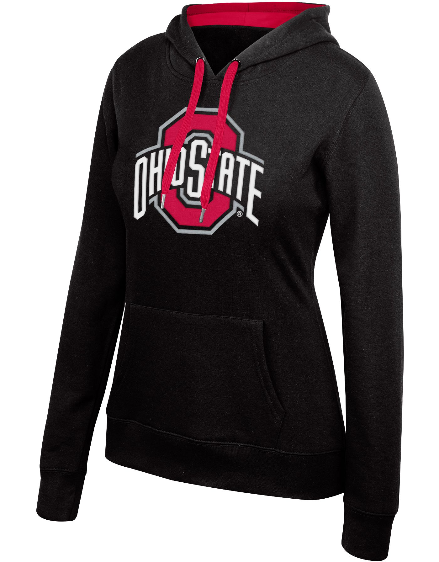 Scarlet & Gray Women's Ohio State Buckeyes Essential Black Hoodie
