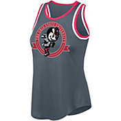 Scarlet & Gray Women's Ohio State Buckeyes Gray Double Ringer Tank Top