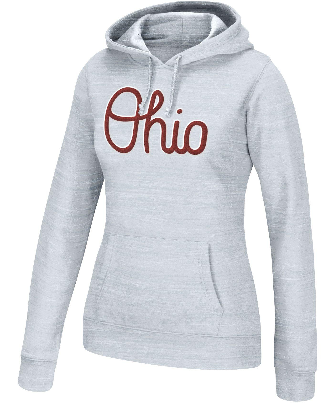 Scarlet & Gray Women's Ohio State Buckeyes Gray Script Hoodie