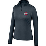 Scarlet & Gray Women's Ohio State Buckeyes Gray Quarter-Zip Shirt