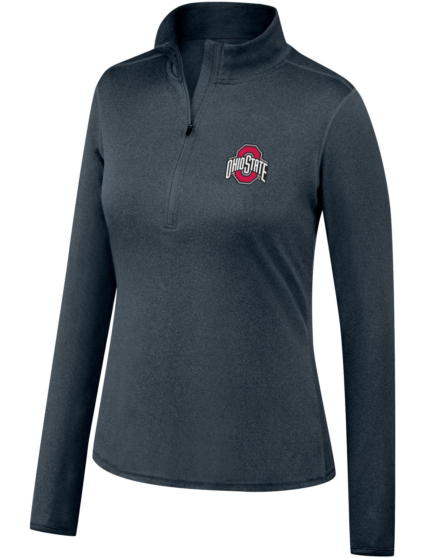 Scarlet & Gray Women's Ohio State Buckeyes Gray Quarter-Zip Shirt