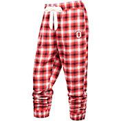 Scarlet & Gray Women's Ohio State Buckeyes Scarlet/Gray Flannel Dorm Jogger Pants