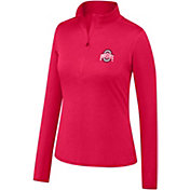 Scarlet & Gray Women's Ohio State Buckeyes Scarlet Quarter-Zip Shirt