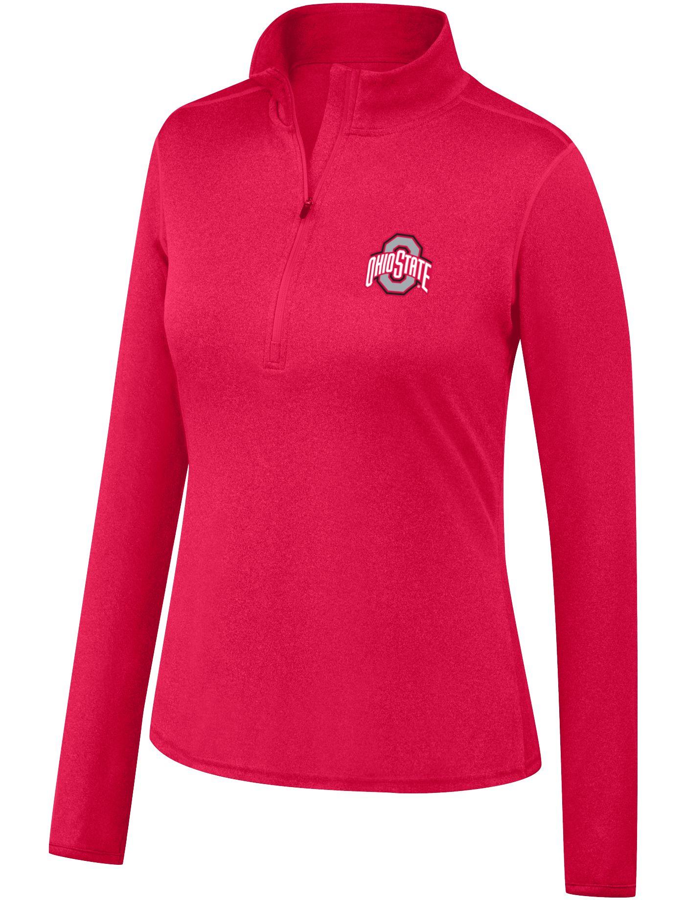 Scarlet & Gray Women's Ohio State Buckeyes Scarlet Quarter-Zip Shirt