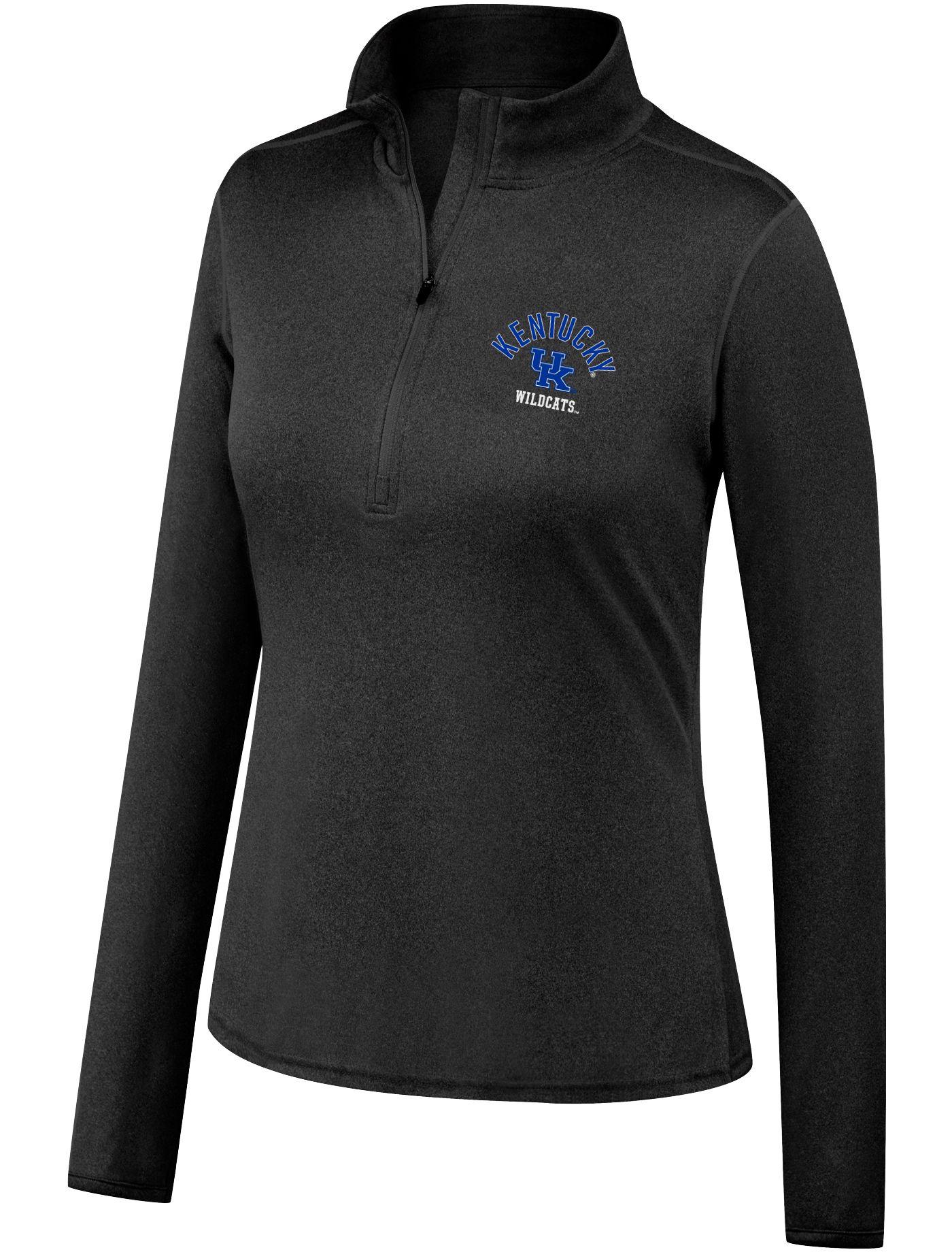 Top of the World Women's Kentucky Wildcats Quarter-Zip Black Shirt
