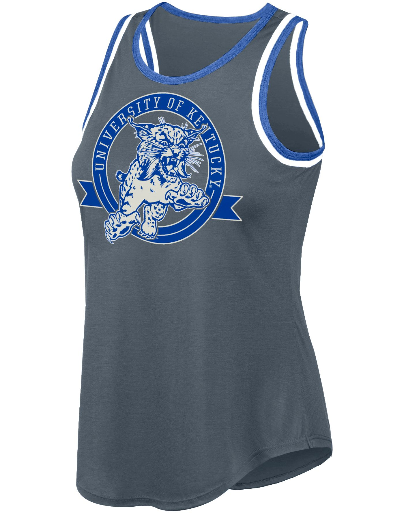 Top of the World Women's Kentucky Wildcats Gray Double Ringer Tank Top
