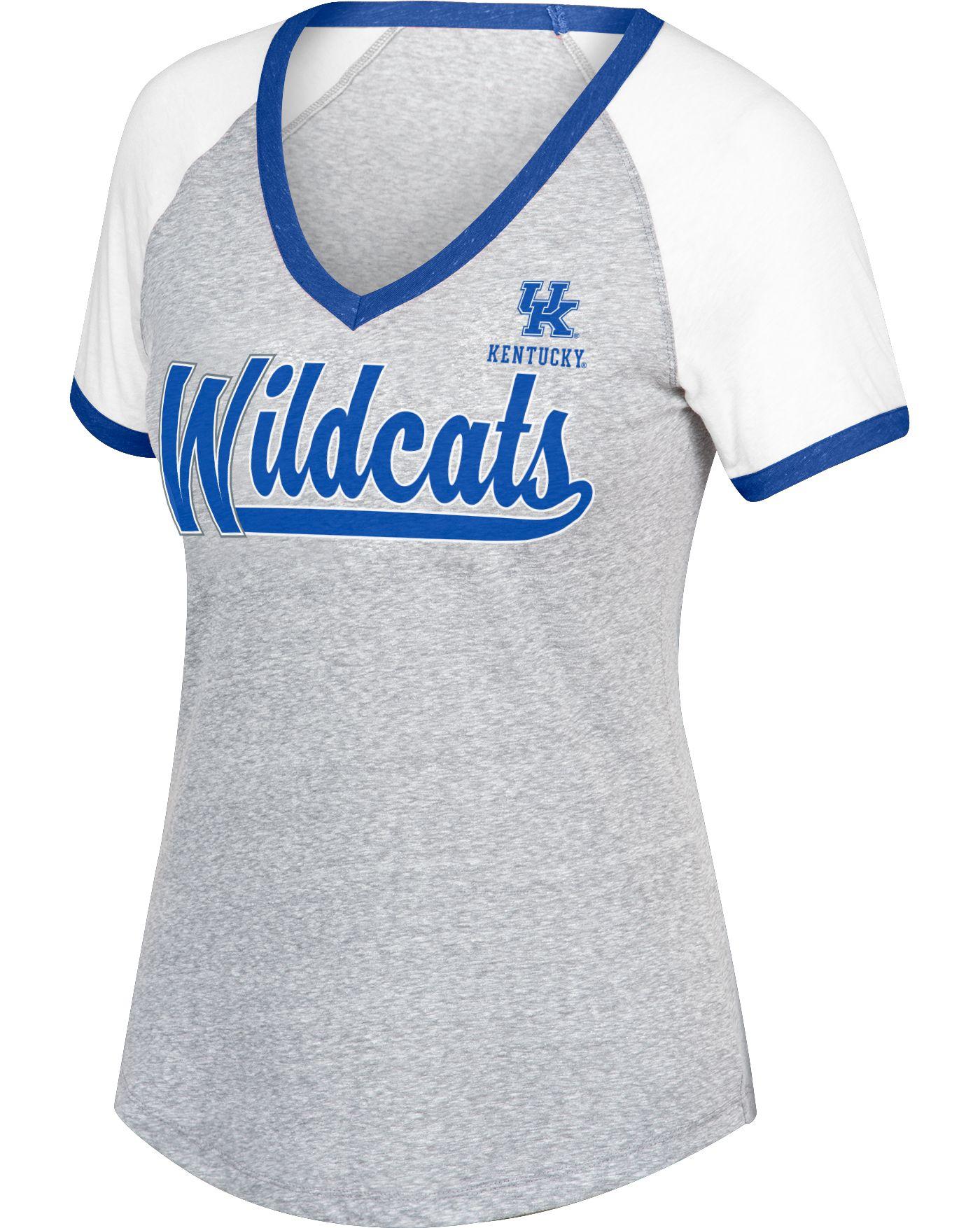Top of the World Women's Kentucky Wildcats Gray Happy Heart T-Shirt