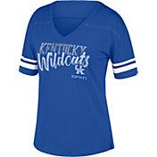 Top of the World Women's Kentucky Wildcats Blue Triple Threat V-Neck T-Shirt