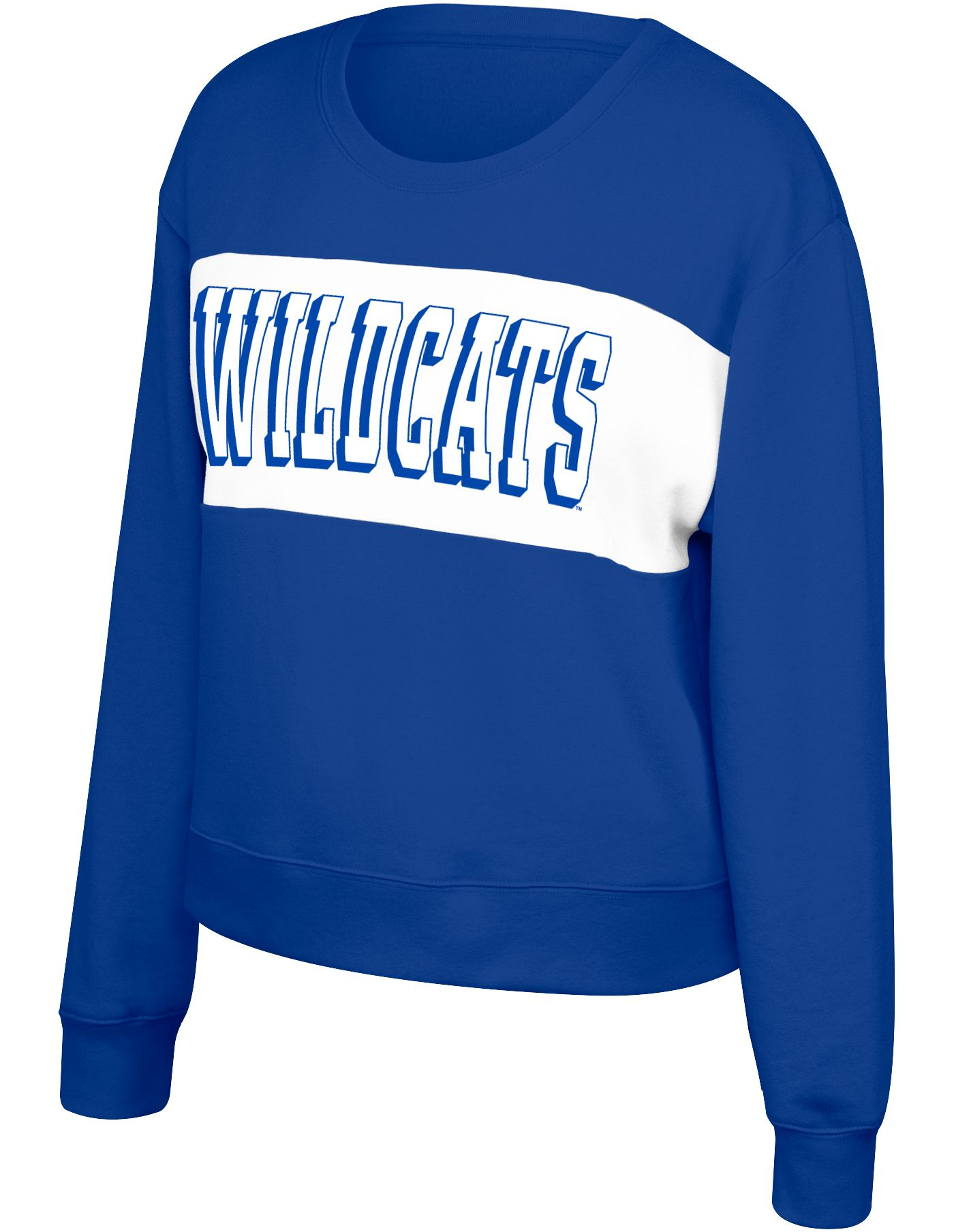 Top of the World Women's Kentucky Wildcats Blue Superstar Crew Neck Sweatshirt