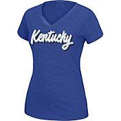 Top of the World Women's Kentucky Wildcats Blue Favorite V-Neck Tee