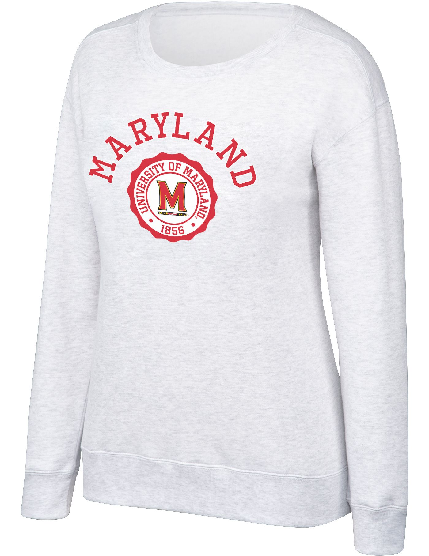 Top of the World Women's Maryland Terrapins Grey Essential Crew Neck Sweatshirt