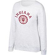 Top of the World Women's Indiana Hoosiers Grey Essential Crew Neck Sweatshirt